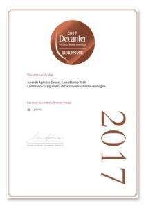 Decanter 2017 – World Wine Awards – Bronze