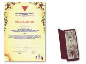 Mostra nazionale dei vini S.c.a. 2013 – Medaglia d'oro