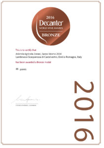 Decanter 2016 – World Wine Awards – Bronze